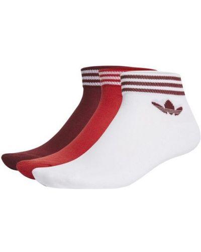 Czerwone skarpety bawełniane Adidas