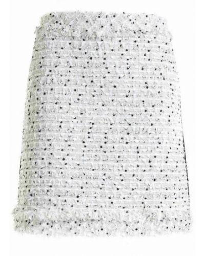 Biała spódnica z frędzlami Karl Lagerfeld