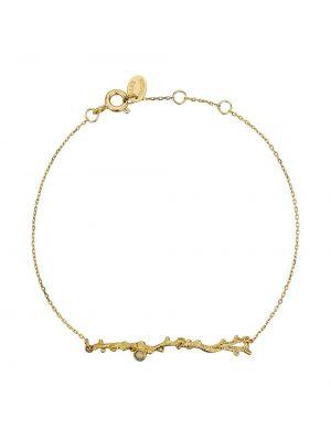 Золотистый красный золотой браслет Alex Monroe