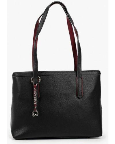 Черная сумка из натуральной кожи Labbra