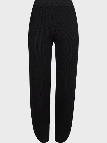 Шерстяные черные брюки Kontatto