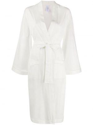 Свободное белое платье свободного кроя с завязками Eres