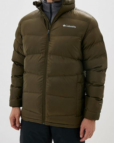 Утепленная куртка осенняя зеленая Columbia