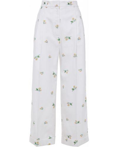 Białe spodnie w paski Racil