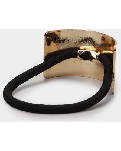 Резинка для волос на резинке золотая Braska