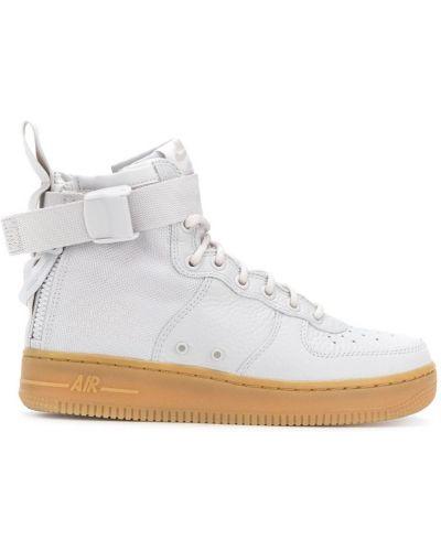 Серые кроссовки на молнии Nike