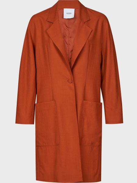 Коричневое кашемировое пальто с капюшоном Agnona
