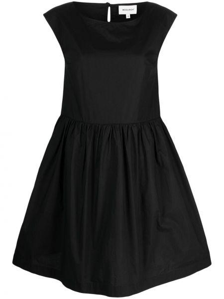 Прямое черное платье миди без рукавов Woolrich