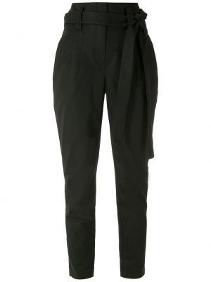 Хлопковые черные брюки с карманами Martha Medeiros