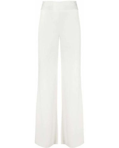 Белые свободные брюки свободного кроя с высокой посадкой Galvan