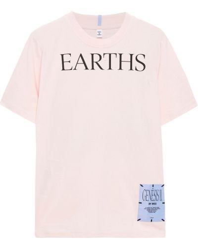 Różowa koszulka bawełniana Mcq Alexander Mcqueen
