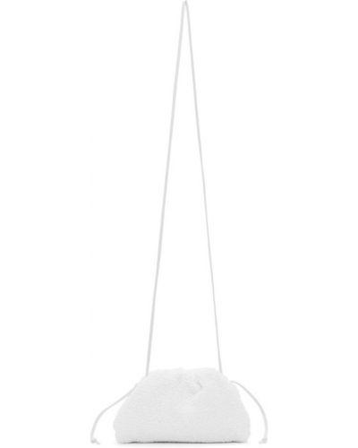 Biała kopertówka skórzana Bottega Veneta