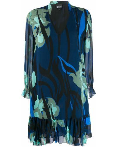 Платье с V-образным вырезом трапеция Just Cavalli