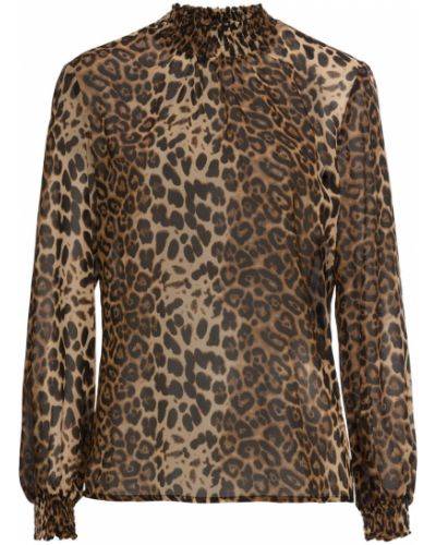 Блузка на резинке с леопардовым принтом Bonprix