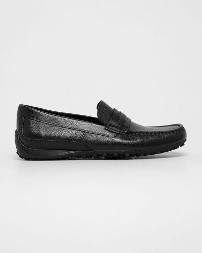 Кожаные туфли текстильные коричневый Geox