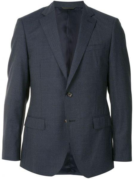 Шерстяной однобортный классический пиджак на пуговицах с карманами D'urban