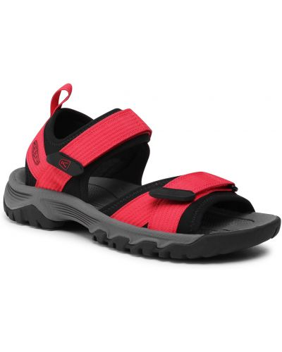 Czarne sandały peep toe Keen