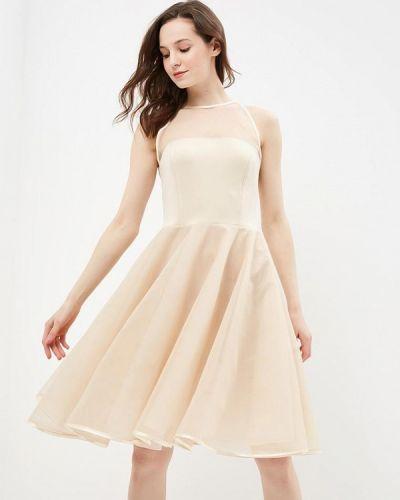 Платье миди польское бежевое Stylove