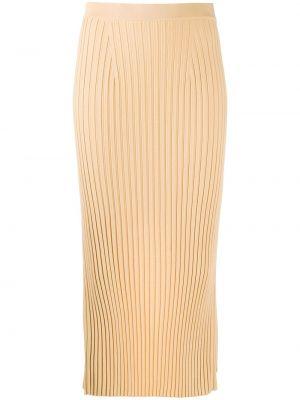 Трикотажная с завышенной талией юбка карандаш с поясом Mrz