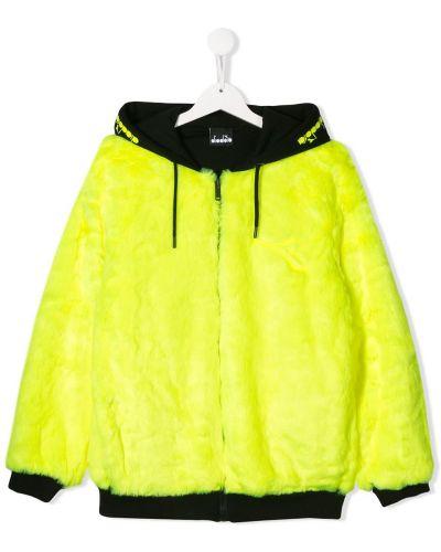 Желтое длинное пальто с манжетами Diadora Junior
