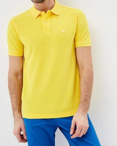 Желтое поло с коротким рукавом United Colors Of Benetton