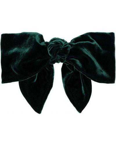Włókienniczy zielony spinka do włosów Jennifer Behr