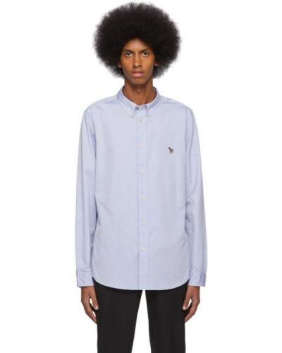 Niebieski bawełna bawełna z rękawami koszula oxford Ps By Paul Smith