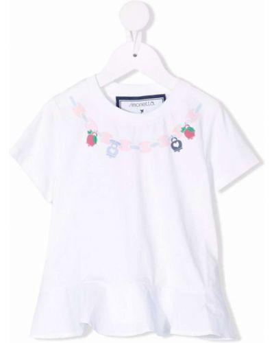 Biała T-shirt z nadrukiem z printem Simonetta