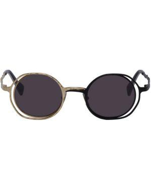 Okulary przeciwsłoneczne czarny srebro Kuboraum