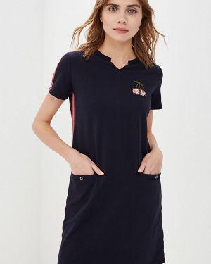 Платье футболка синее Peche Monnaie