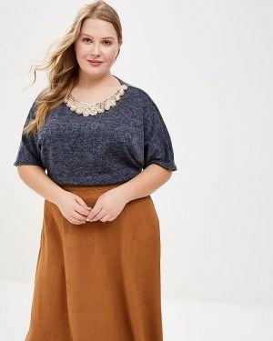 Блузка с коротким рукавом синяя весенний Prewoman