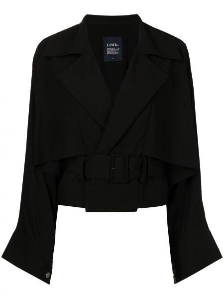 Черная куртка оверсайз с вырезом Yohji Yamamoto
