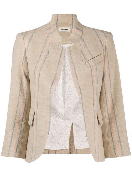 Открытый приталенный короткая куртка на пуговицах Zadig&voltaire