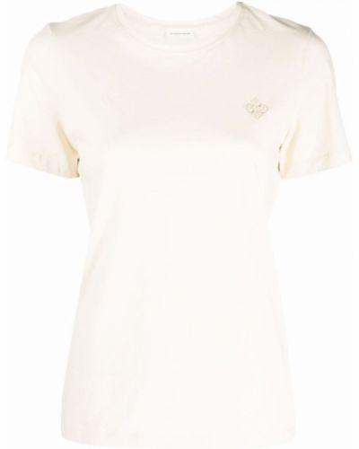 Хлопковая футболка - белая By Malene Birger