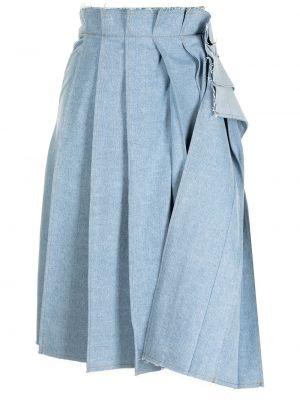 Джинсовая юбка миди - синяя Sjyp