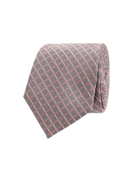 Klasyczny różowy krawat z jedwabiu Jake*s