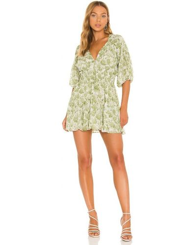 Платье с подкладкой - зеленое Misa Los Angeles