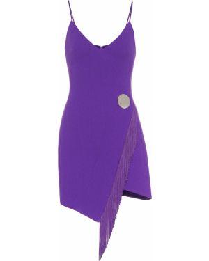 Sukienka mini wieczorowe wełniana David Koma