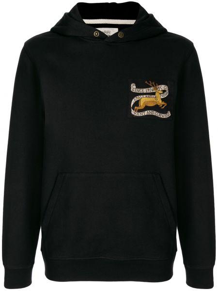 Czarna bluza długa z długimi rękawami bawełniana Kent & Curwen