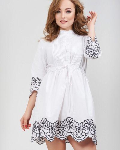 Белое платье весеннее Olko