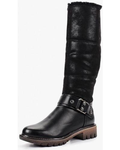Кожаные сапоги осенние на каблуке Wilmar