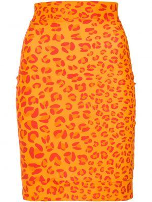 Юбка леопардовая с цветочным принтом Amir Slama