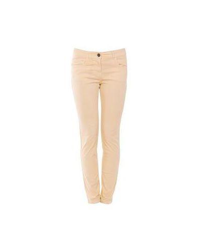 Желтые джинсы-скинни Scervino Street