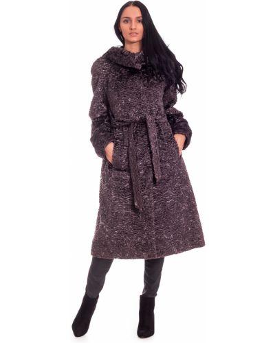 Пальто с капюшоном зимнее с поясом Lacywear