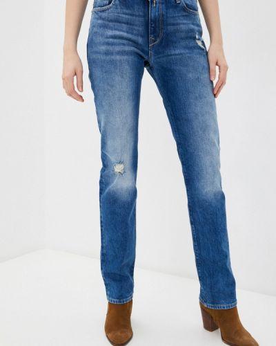 Прямые синие джинсы Replay