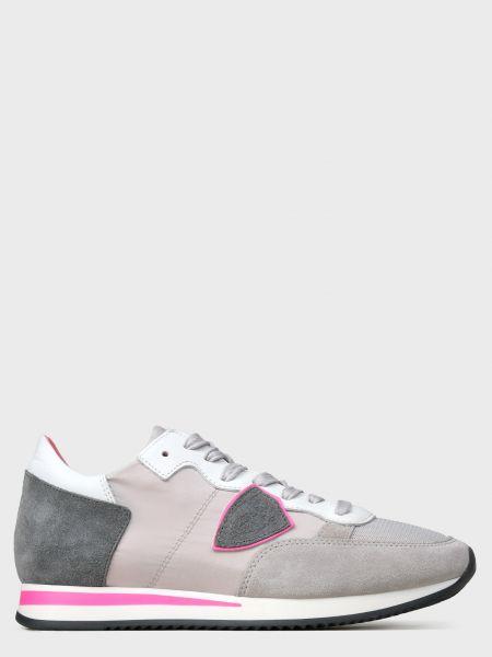 Кожаные кроссовки - серые Philippe Model