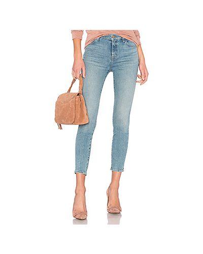 Укороченные джинсы с эффектом потертости с карманами J Brand