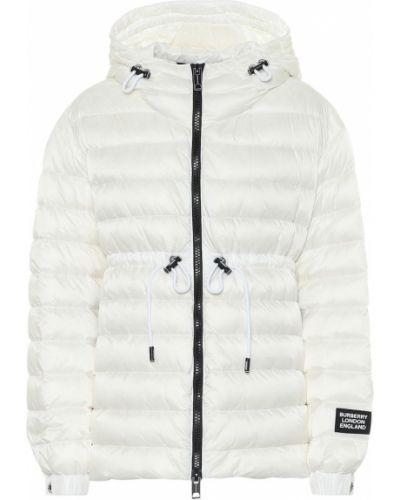 Пуховая белая зимняя куртка Burberry