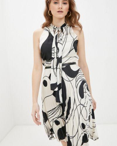 Прямое бежевое платье А-силуэта Rinascimento