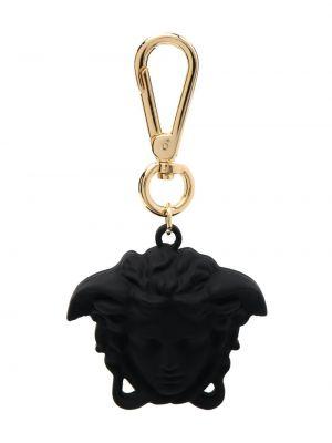 Czarny złoty łańcuch ze złota Versace